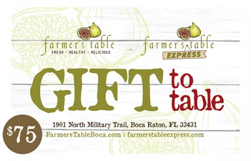 Farmer's Table Gift Card