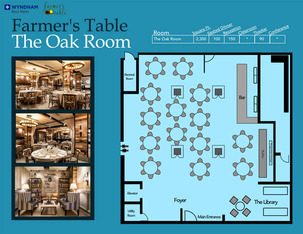 Floor Plans Oak Room
