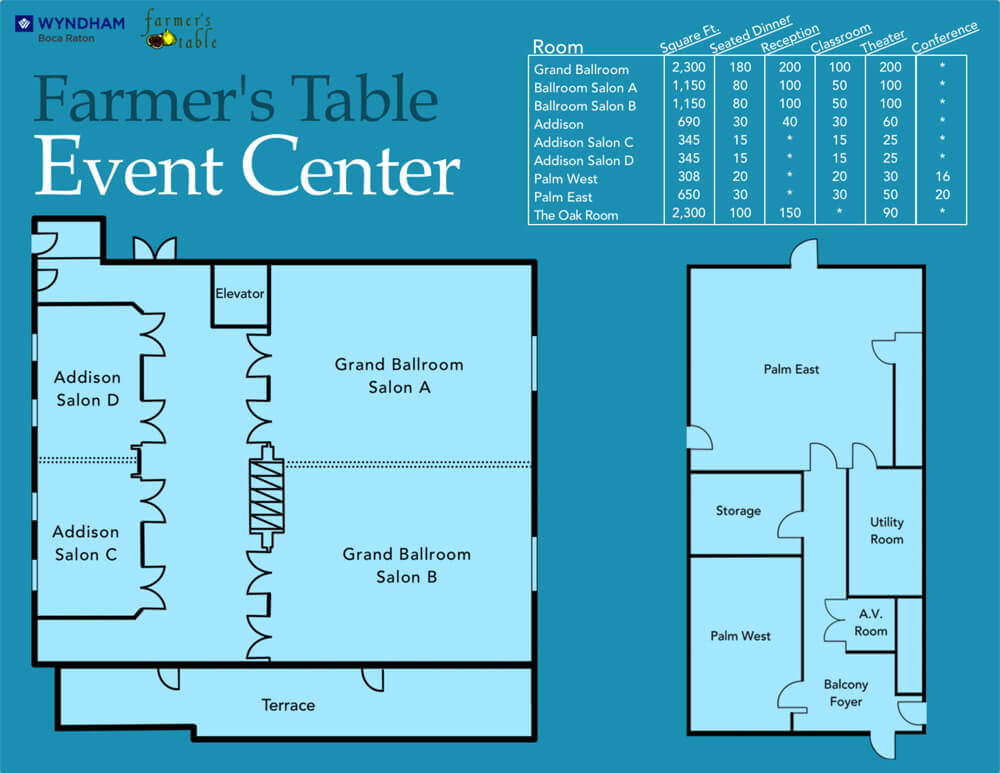 Wyndham Event Center Floor Plans